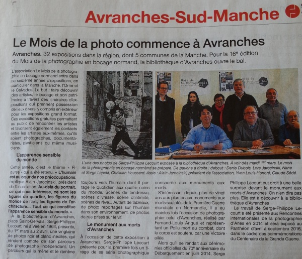 Article Ouest France-serge-philippe-lecourt-avranches-29-fevrier-2016