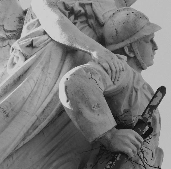 Serge Philippe Lecourt - Monument aux morts Avranches - 2014 - nid tourterelle