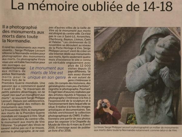 Vire le bocage libre-Serge Philippe Lecourt-2015-11-14-La memoire oubliee